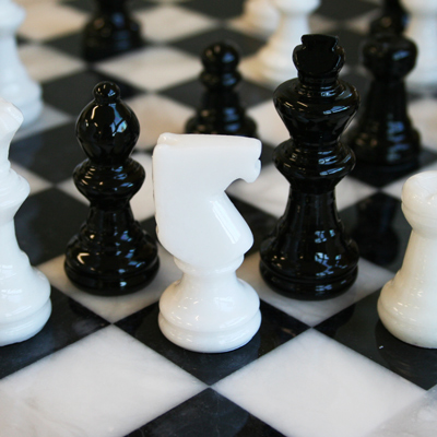 アラバスターチェスセット(MF-1) -白/黒-