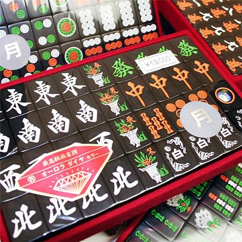 オール黒牌 麻雀牌 月(つき)